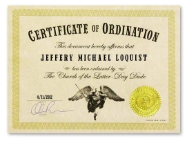 Ordained as a Dudeist Priest April 11, 2012